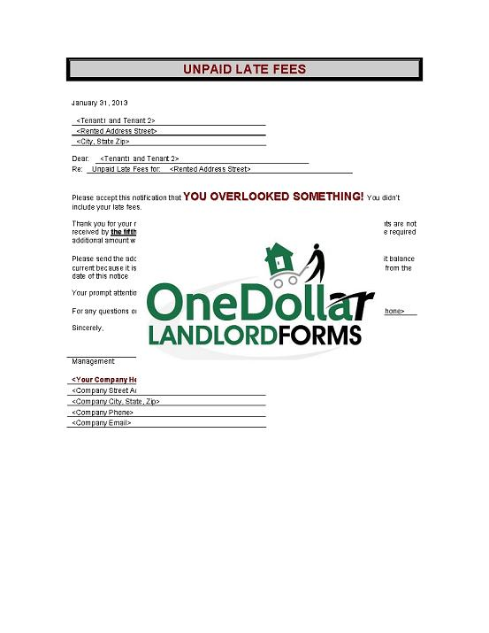 D08-Unpaid Late Fees | Onedollarlandlordforms – Rental Lease